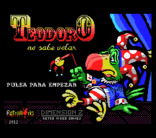 MSXdev'12 - Teodoro No Sabe Volar announced