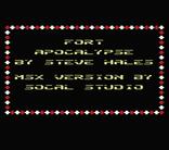 MSXdev'18 - Fort Apocalypse