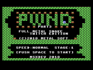 MSXdev - PWND 3 announced