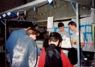 Tilburg 1993 - Visitors of the fair looking at the latest Hegega productions
