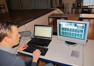 Huey demonstrating TriloTracker (SCC)