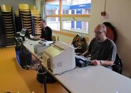 MSX Vriendenclub Mariënberg setting up their booth
