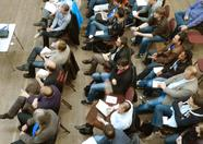 The audience, seen from above.