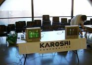 The MSX 2 of Karoshi's stand was the first in the meeting. (Pro Tracker rulez!)