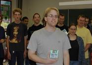 Quiz winner Manuel Bilderbeek picked MSX-Fan disks