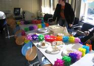 MRC's booth all dressed up for the celebration