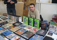 Erik proudly showing his collection of doubles.