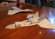 "The results of Bazix's ""fold an Aleste fighter jet""-challenge"