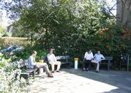 During the day the weather was very nice... so what better place to have a little break