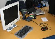 The TNI booth, demonstrating the 1 Chip MSX