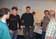 Arnold Metselaar (Yeti), Dennis Koller, Maarten van Strien (Wolf) not showing an evil grin, Richard Cornelisse (huey), Yobi