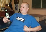 Ray2day enjoying a beer