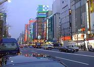 An overview of the Akihabara Electric Town main street.