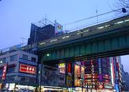 A railway through Akihabara.