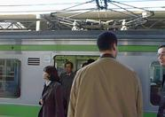 The Yamanote has arrived as well. It'll probably be crowded inside.