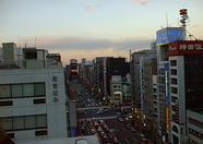 Akihabara around sunset.