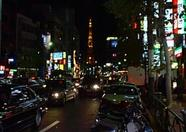 Tokyo Tower can be seen in the distance.