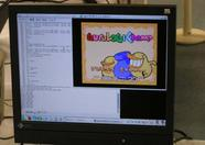 A demonstration of the upcoming game Guru Logic, running on openMSX
