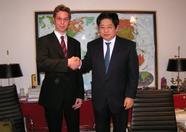 Left: Sander Zuidema (MSX Resource Center), right: Mr. Kazuhiko Nishi (MSX Association).
