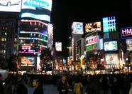 into the Shibuya nightlife...