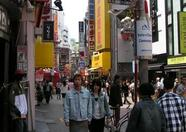 One of the busiest streets of Shibuya, even this early in the morning when the shops just opened it's already quite crowdy