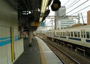 Akihabara station, waiting for the train to Shimbashi station