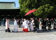 ...another look at the traditional Japanese wedding in process...