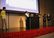 3 members of the Japan Computer Game Association joining on stage