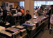 The entire stand, the boxes below... all MSX software owned by one single man. Mr. Aoki.