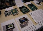 An overview of the ESE stand, with 3 One Chip MSX prototypes