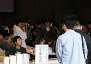 The book of Bourbon Kobayashi, Je game moi non plus, sold quite well during the fair. At the end of the day, he only had a few copies left.