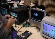 During the day, many people had a go at some One Chip MSX gaming