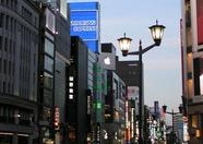 Last night in Japan, looking around in Ginza