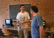 Richard and Latok talking about MSX... and music ;)