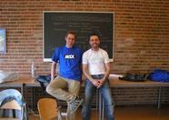 Two happy MSX Club Groningen organizers: Sander and Erik.