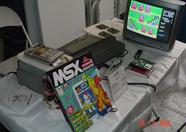 SLotman drew a lot of attention to his booth as he released 5 games at the fair. He also had the MSX Magazine 2 he had received from ASCII Corporation on display