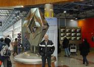 Arriving at Madrid/Barajas airport.