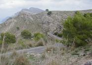 Betlem, near Arta. A small and tricky road, 550m high