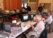 During the day people play games on their MSX computers.