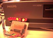 LEDs controlled by the MSX, connected to the printer port