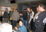Wii gaming also attracted some attention, even Alex played a game. (Hi, Wynke!)
