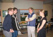 Chatting with Sander Zuidema, Sjoerd Lammertsma, Rudi Westerhof and Marinke Snijders