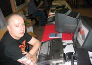 Raymond showing the MVM logo on his MSX