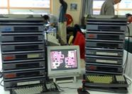 All these MSX computers are linked together in order to create the most stunning effects on screen!