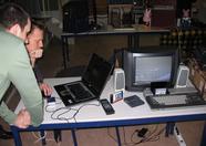 AuroraMSX and Huey watching a development tool