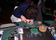 Koen van Hartingsveldt of Sunrise fixing and upgrading Sunrise hardware.