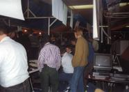 Lots of people coming by to talk about the latest MSX developments back then.