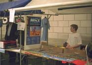 The stand of MCCM, the last commercially distributed MSX Magazine of the Netherlands