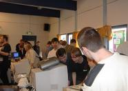 An impression of the fair at the OpenMSX stand