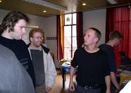Marcel (on the right) explaining things to Maarten van Strien (Wolf) (they might as well be putting up a fight)